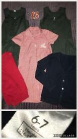 Girls school wear - dresses cardigans etc 6-7
