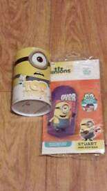Minions top trumps cards and inflatable Minions bop bag in two colours