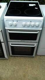 hotpoint 50cm electric double oven/grill free nn delivery 3 months warranty