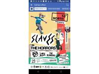 2 tickets for The Slaves, The Horrors & many more Hull Zebedees yard