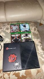 xbox one good condition with 4 games