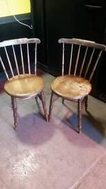 2x vintage wooden chair