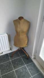 Vintage mannequin female shape freestanding fabric outer girl woman dressmakers dummy
