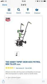 The handy thmpt 30cm 43cc petrol mini tiller