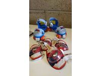 Boys Spiderman Roller skates and safety pads