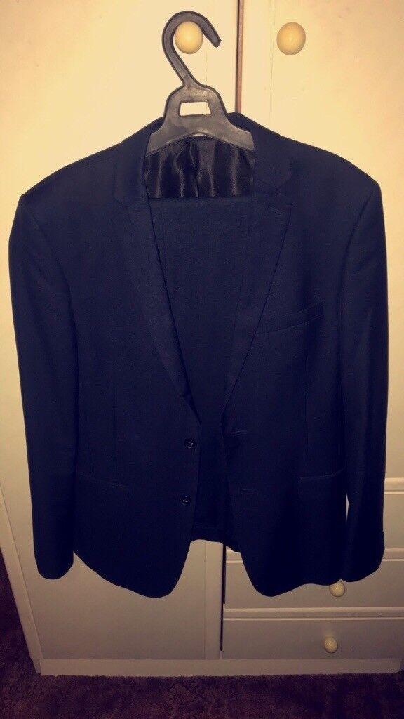 Navy Blue 2 Piece Men's Suit Red Herring