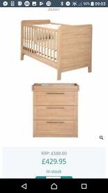 Mama's and papas rialto three piece nursery furniture
