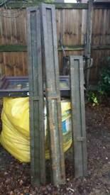 Concrete Fence Base Posts (2x 6ft, 1x 4.5ft)
