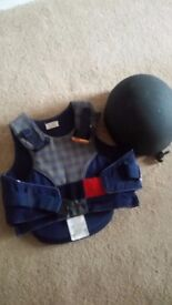 Job lot of equestrian clothing and boots for a child, age about8-10
