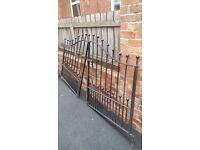 set of cast iron driveway gates