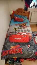 DISNEY'S CAR'S 2 x SINGLE DUVET SETS, HOODED TOWEL & POP-UP PLAY TENT