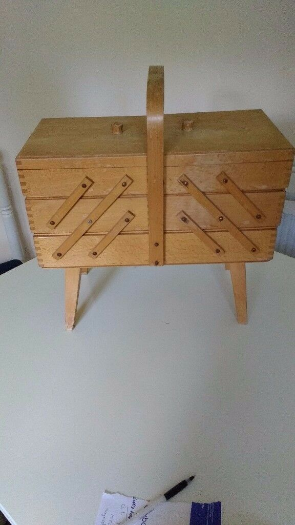 Sewing /craft wooden cantilever style storage