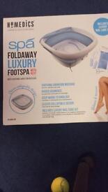 Homedics luxury foldaway foot spa