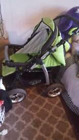 baby merc green travel system