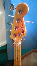 80s Marlin Slammer bass with flatwound strings.. very nice feel perfect for upgrading/mods