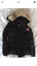New Men's Black Canada Goose Carson Parka - Size M - VERY RARE - Tags And Papers