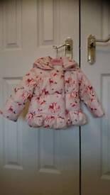 Ted Baker girls pink jacket 12-18 months