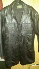 Pure Leather jacket knee length