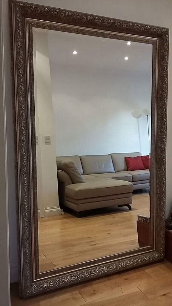 Antique Silver Frame Large Mirror In West Hampstead
