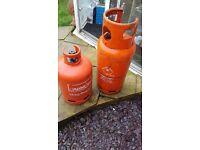 2 empty calor gas bottles 13 and 19kg.