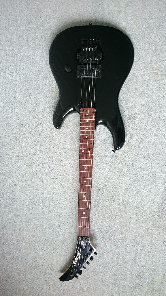 Black Peavey Nitro Electric Guitar for sale, with case