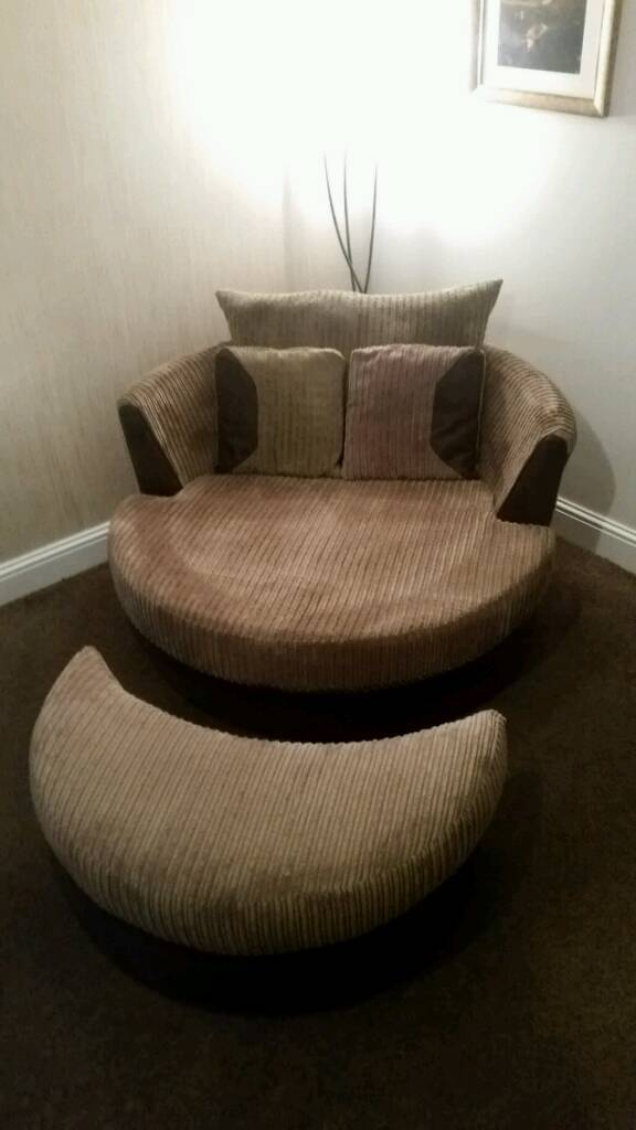 Twiby 3 Seater Sofa Large Swivel Chair And Half Moon