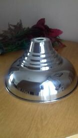 silver/chrome pendant light shade, new