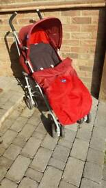 Red Chicco London pushchair