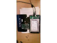 2 x Seagate 3.5 barracuda 320gb 7200 harddrives hard drives and ICY Caddy, USB and power