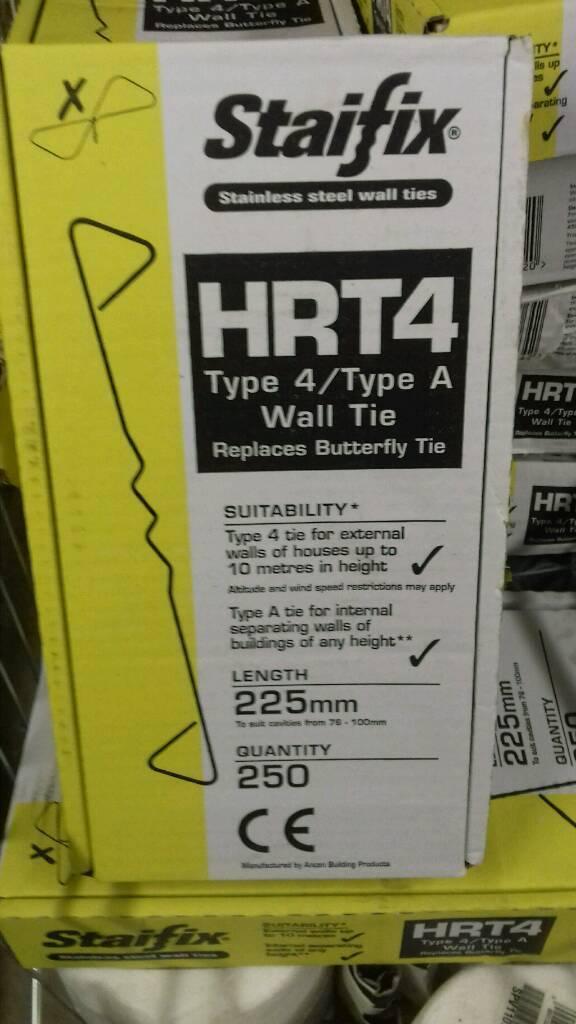 Job lot 23 boxes of wall ties