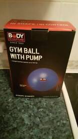 Gym / Birth Ball with pump in box.