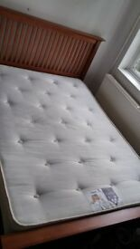 Sturdy double bed in good condition