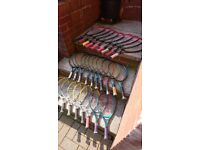 Mini tennis rackets. Ideal for coaching groups. Good condition. Bargain.