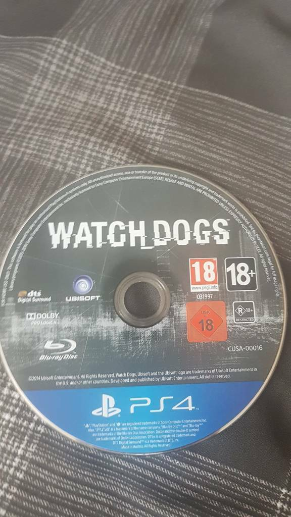 Watchdogs for ps4