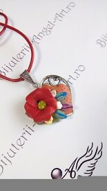 Jewelry Set handmade Inspired Summer Flowers -formed by 2 parts