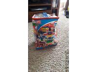 Playing Bag of mega blocks