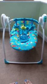 Baby swing motion and music suitable from newborn