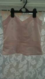 Ladies Pink Bustier Top Size 10.Cost 40.00.