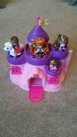 Girls castle toy with characters