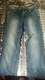 Ladies jeans size in picture