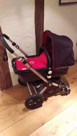 Bugaboo Cameleon Red and Charcoal + All accessories