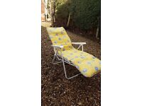 Outdoor Garden Recliner Chair, with Padded cushion