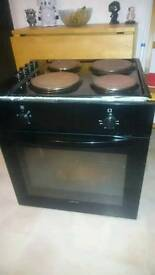 Electric hob and integrated oven for sale