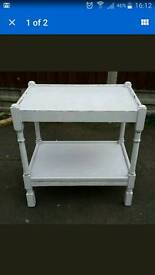 Shabby chic solid vintage oak console table