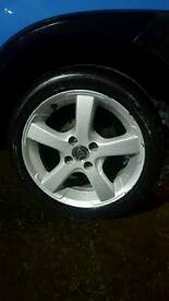 Vauxhall corsa alloys and tyres