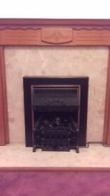 W00DEN FIRE MANTLE and Marble surround