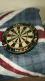 Darts board with cabnet