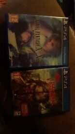 Final Fantasy 10 & 10-2 remstered edition Dead island definitive edition PS4