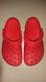 Crocs. Size 12 - 13. Red. Great clean condition