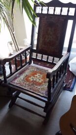 Really pretty, Victorian rocking chair, in its original state